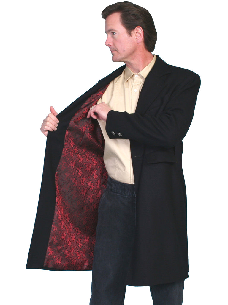 Men's Scully Old West Wahmaker Original Frock Coat with Red Lining