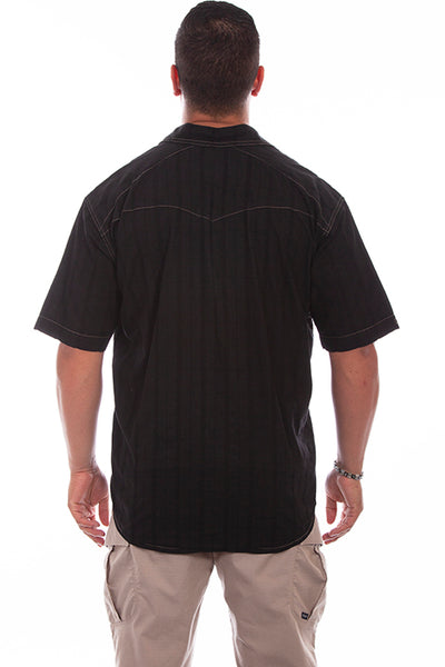 Farthest Point Collection Short Sleeve Beachwood Black Front
