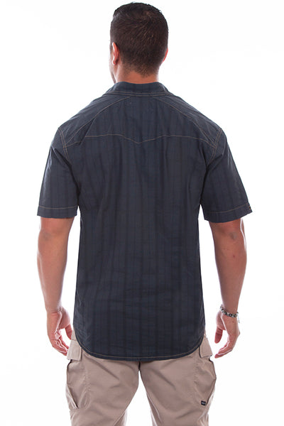 Farthest Point Collection Short Sleeve Beachwood Gun Metal Front