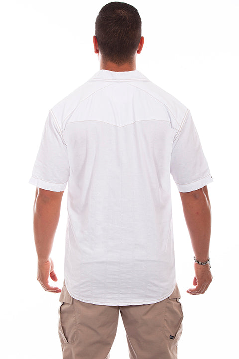 Farthest Point Collection Short Sleeve Beachwood White Back
