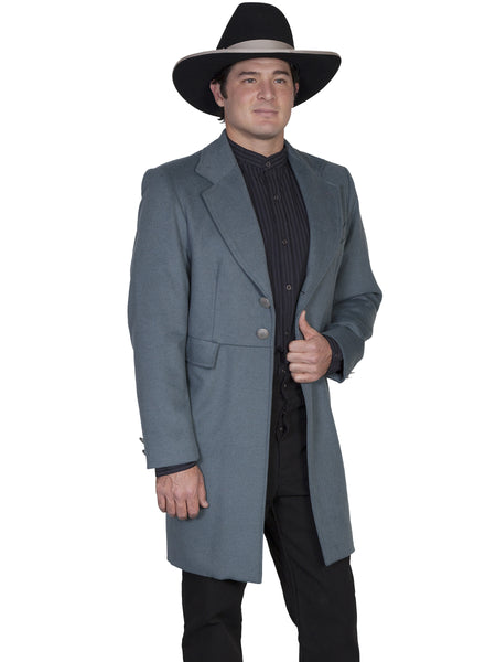 Scully Men's Old West Frock Coat Military Blue Front