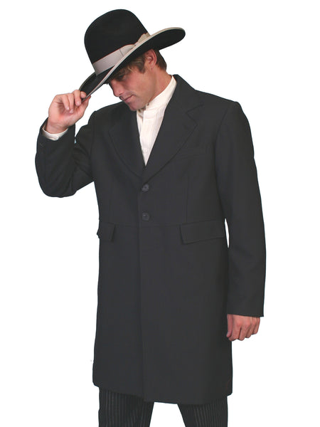 Mens Scully Old West Wahmaker Frock Coat with Buttons Front