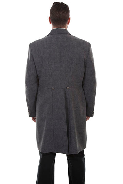 Men's Scully Old West Wahmaker Frock Coat Heather Grey Front