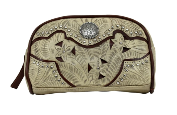 American West Hill Country Cosmetic Case Sand