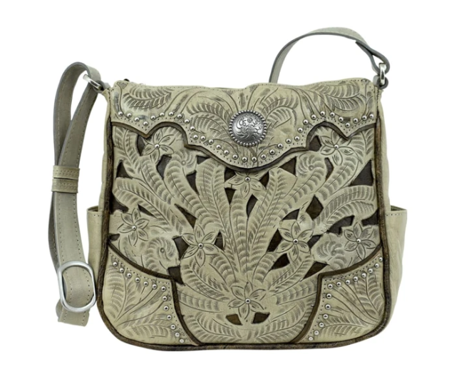 American West Hill Country Collection Crossbody Sand
