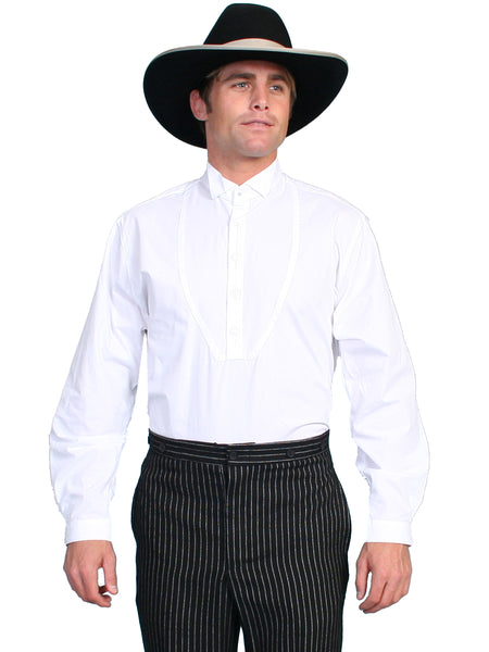 Men's Scully Old West Wahmaker Gambler Shirt White
