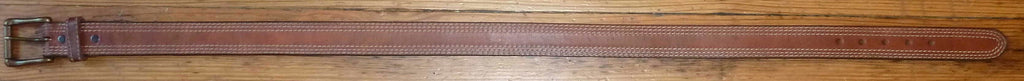 Rockmount Ranch Wear Accessory Triple Stitch Leather Belt Tan