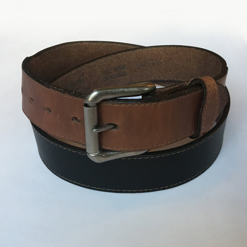 Rockmount Ranch Wear Leather Black and Tan Belt