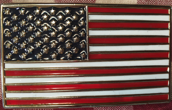 Amreican Flag Trophy Buckle