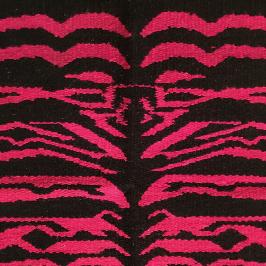 Saddle Blanket Zebra Print Pink Black