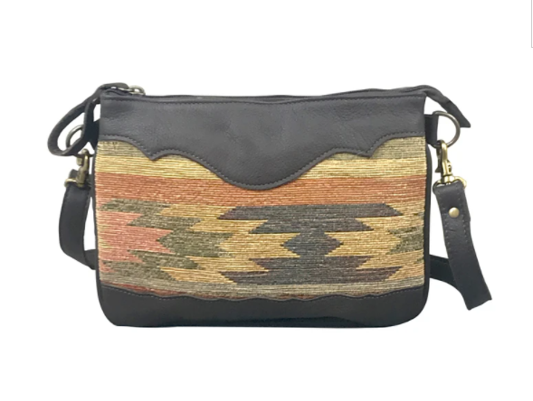 American West Aztec Textile Crossbody Front