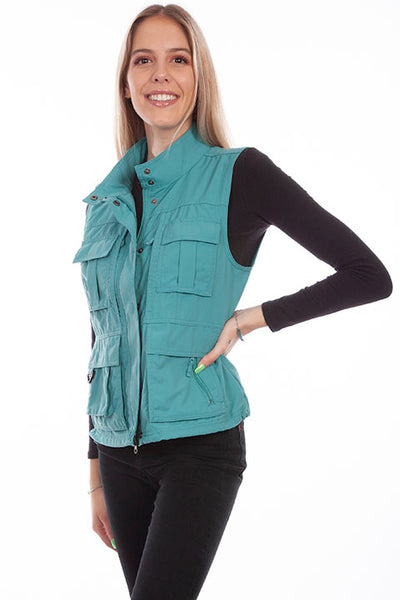 Farthest Point Collection Multi Pocket Ladies' Vest Midnight Front #6262