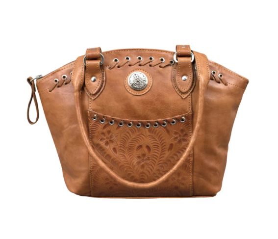 American West Handbag Annie's Secret Zip Top Tote Front