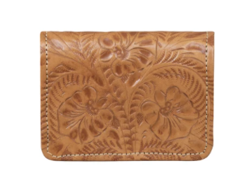American West Handbag Tri-Fold Wallet Natural Tan #6615882