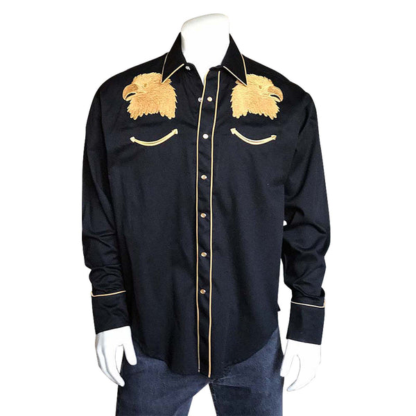 Rockmount Ranch Wear Men's Golden Eagle Embroidered Shirt Front #176729
