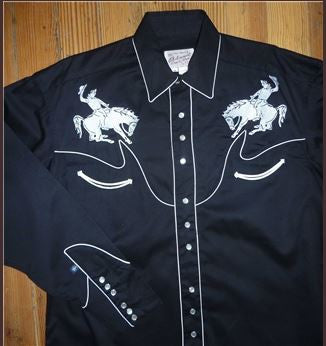 Rockmount Ranch Wear Mens Western Vintage Bucking Bronc Front