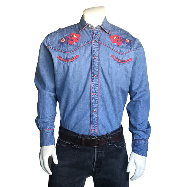 Rockmount Ranch Wear Men's Bison Embroidery #6868