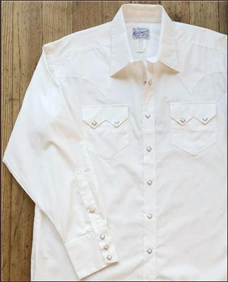 Rockmount Ranch Wear Men's Western Dress Pima Cotton White Front