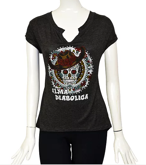 Liberty Wear Alma Diabolica Short Sleeve Top #117001