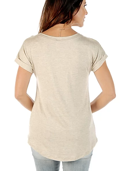 Liberty Wear Women's T-Shirt Battle Headdress Oat Back View