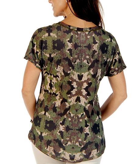 Liberty Wear Ladies' Camo Top Front  #117016