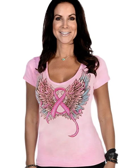 Liberty Wear Fearless Pink Top Front #117049A
