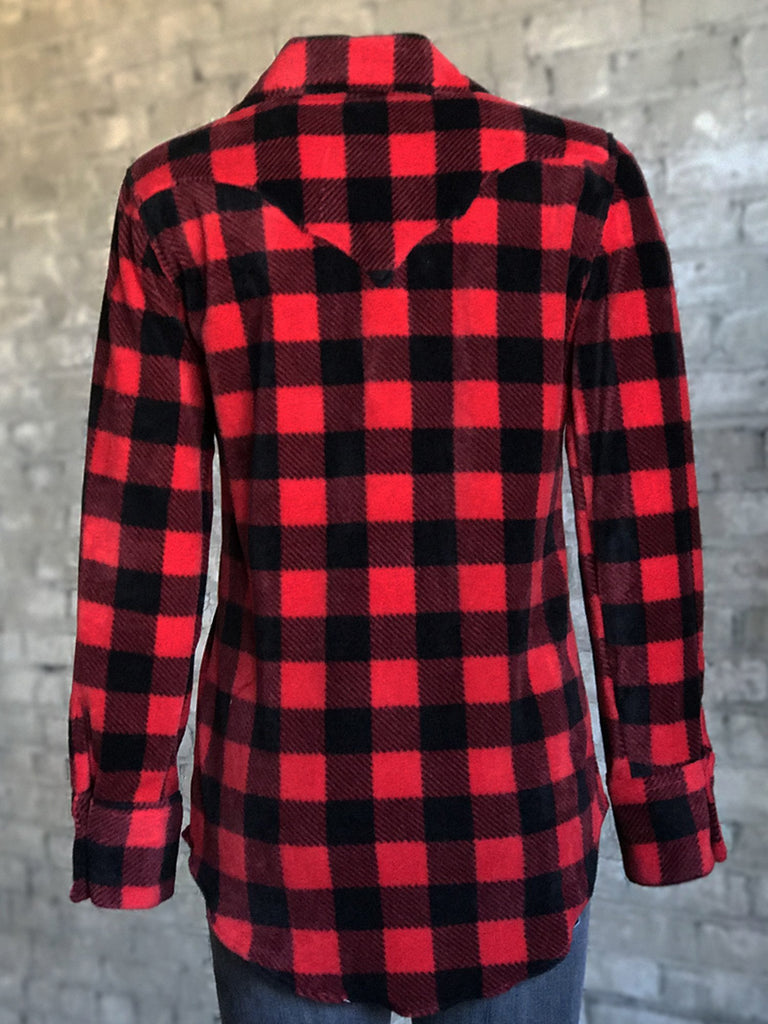 Rockmount Ranch Wear Ladies' Western Flannel Shirt Buffalo Check Back
