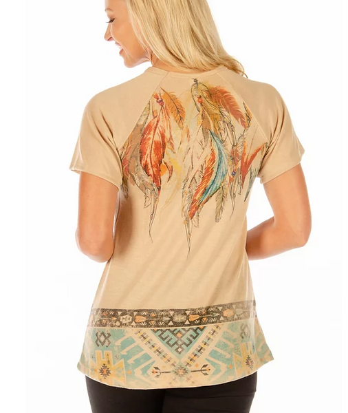 Liberty Wear Collection Tops: Adorn In Feathers