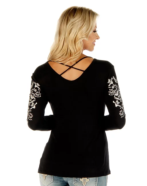 Liberty Wear Crossed Elegance Black Back #117290B