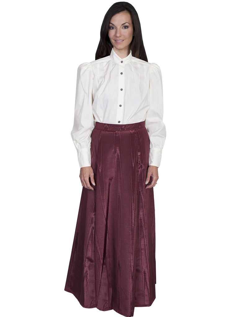 Scully Wahmaker Skirt: Elegant Victorian 5 Gore Walking Style Burgundy