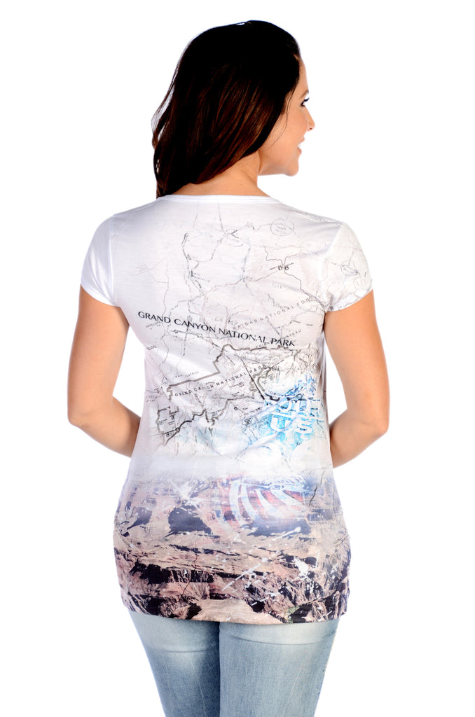 Liberty Wear T-Shirt Grand Canyon Cartography Back