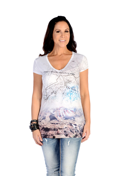 Liberty Wear T-Shirt Grand Canyon Cartography Front #117438