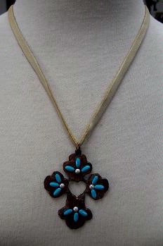 Iron Cross with Turquoise and Pearls