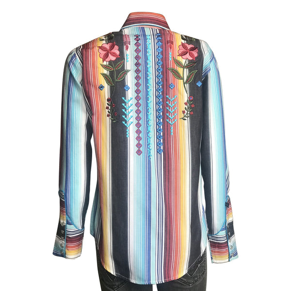 Rockmount Ranch Wear Ladies' Vintage Inspired Western Serape Stripe Front