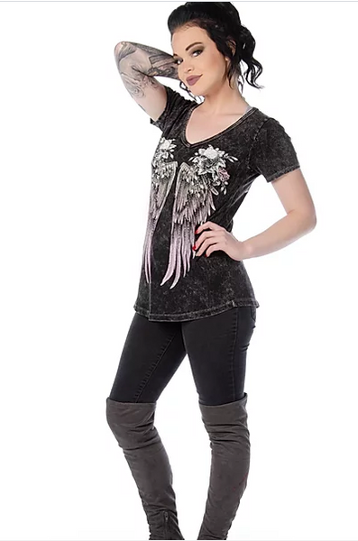 Liberty Wear Ladies' Top Raise Me Up Front #7711