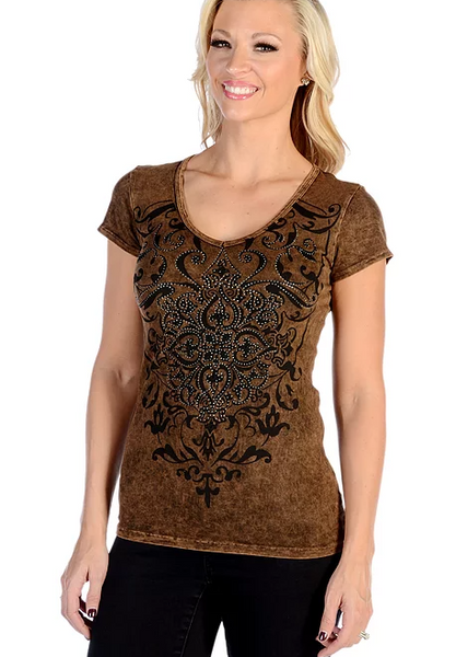 Liberty Wear Vintage Crystals Top Front #117724