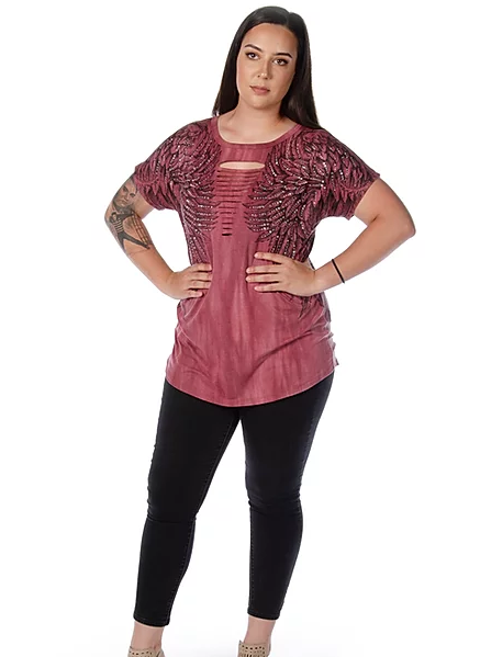 Liberty Wear Ladies' Top Rise Above #7726 Front
