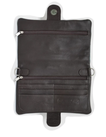 American West Grab and Go Foldover Crossbody Interior
