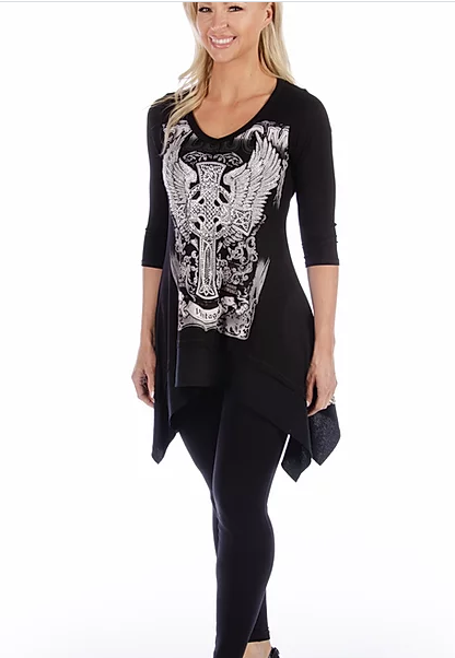 Liberty Wear Ladies' Celtic Cross Front #117921