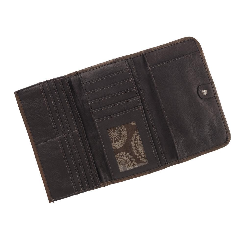 American West Hitchin' Post Collection Tri-Fold Wallet Interior