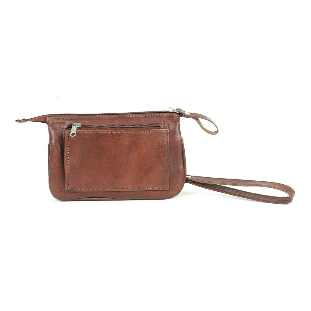 American West Hitchin' Post Collection Event Wristlet Clutch Event Brown Back