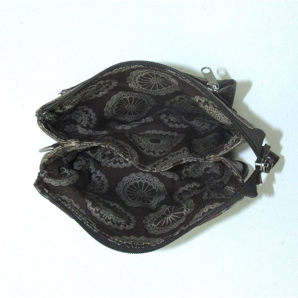 American West Freedom Feather Event Clutch Wristlet Interior