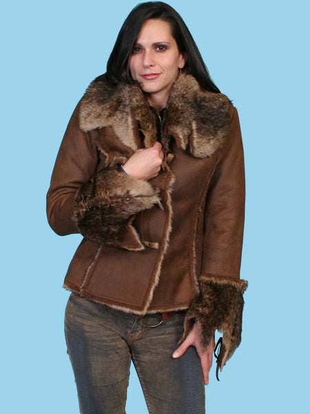 Scully Honey Creek Jacket Faux Fur and  Faux Suede