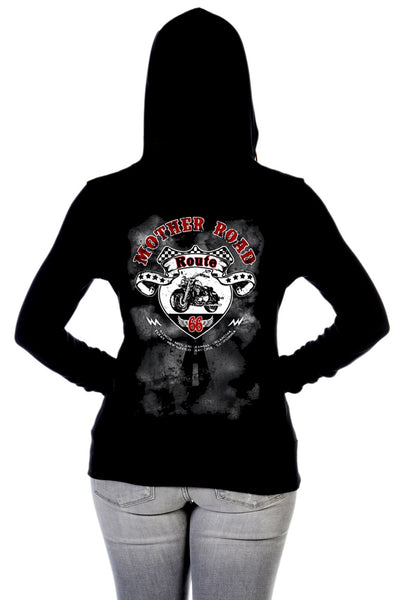 Liberty Wear Women's Hoodie Mother Road RT 66 Back