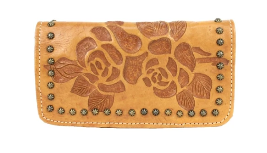 American West Texas Rose Collection Tri-Fold Wallet