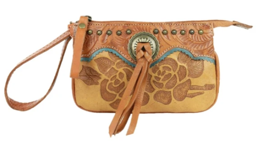 American West Handbag Texas Rose Collection: Stadium Event Approved Bag