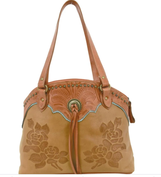 American West Texas Rose Collection Zip Top Tote