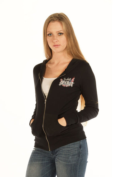 Liberty Wear Women's Hoodie Wild Spirit Back