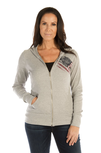 Liberty Wear Collection Tops: Zip Up Hoodie American Pride
