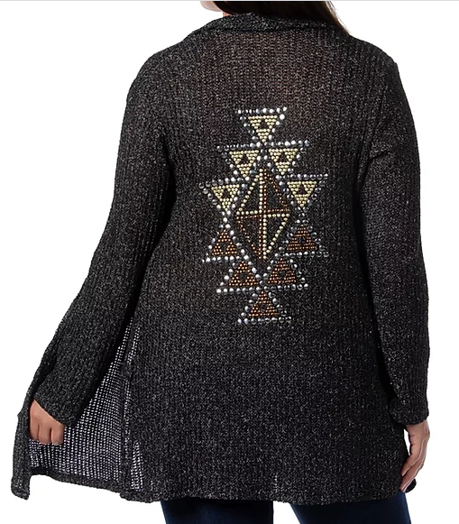 LIberty Wear Ladies' Tribal Stud Cardigan #8375 Back